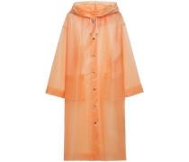 Woman Carla Pvc Hooded Raincoat Peach