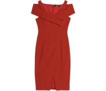 Cold-shoulder ponte dress