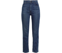 Colette Cropped High-rise Slim-leg Jeans Mid Denim  4