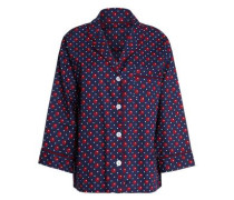Printed cotton-poplin pajama top