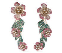 Woman Gold-tone Crystal Earrings Gold
