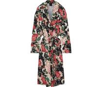 Floral-print Cady Kimono Black