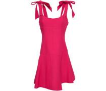 Jeanette Bow-detailed Cady Mini Dress Crimson