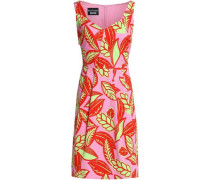 Printed Cotton-blend Jacquard Dress Pink