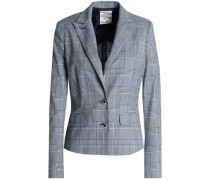 Prince Of Wales Checked Cotton-blend Jacket Gray