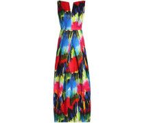 Marilia Open-back Printed Cotton-blend Gown Multicolor Size 0