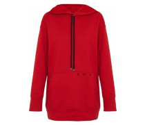 Studded cotton-jersey hoodie