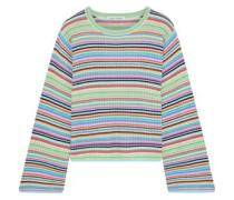 Striped Ribbed Cashmere Top Multicolor