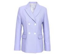 Double-breasted Cotton-blend Blazer Lavender