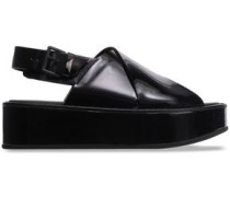 Patent-leather Platform Sandals Black