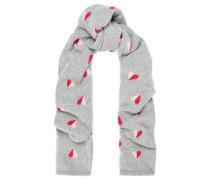 Intarsia merino wool scarf