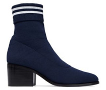 Court Striped Stretch-knit Sock Boots Navy