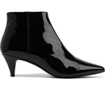 Woman Selvie Patent-leather Ankle Boots Black