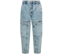 Cropped High-rise Straight-leg Jeans Light Denim  4