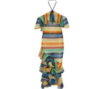 Annabeth embellished tulle halterneck midi dress