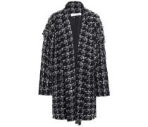 Trouble Oversized Houndstooth Bouclé Coat Black