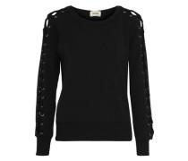 Mirana lace-up fleece sweatshirt
