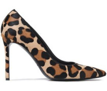 Woman Leopard-print Calf Hair Pumps Animal Print