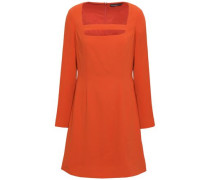 Cutout Crepe Mini Dress Orange Size 12