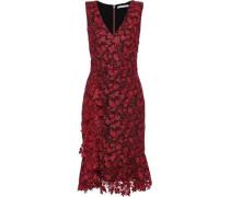 Katia Fluted Guipure Lace Dress Burgundy Size 0