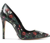 Gilberta floral-print leather pumps
