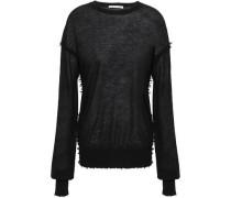Frayed Cashmere Sweater Black