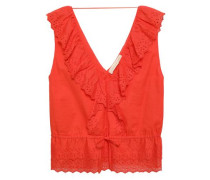 Giwete Broderie Anglaise Cotton Top Coral