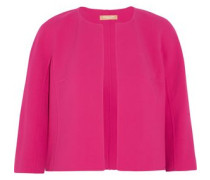 Stretch Wool-blend Woven Jacket Fuchsia