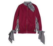 Jersey and gingham poplin sweatshirt