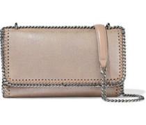 Falabella Faux Brushed-leather Shoulder Bag Mushroom Size --
