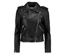 Allison Leather Biker Jacket Black