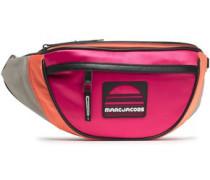Color-block Satin Belt Bag Peach Size --