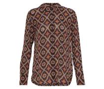 Aubrey printed silk-crepe shirt