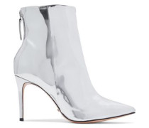 Ginny mirrored-leather ankle boots