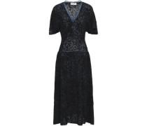 Bouclé Cotton-blend Midi Dress Black