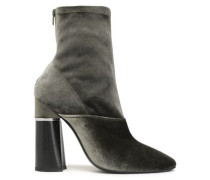 Kyoto Velvet Ankle Boots Army Green
