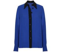 Two-tone Stretch-crepe Shirt Royal Blue