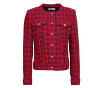 Quilombe Metallic Houndstooth Tweed Jacket Red