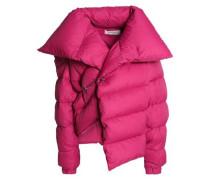 Asymmetric shell down jacket