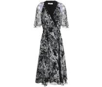 Floral-print silk-georgette wrap dress