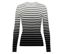 Striped dégradé ribbed-knit sweater