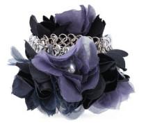 Woman Silver-tone Silk-organza Bracelet Silver