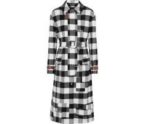 Agrippina Gingham Wool-blend Coat Black