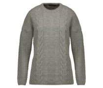 Katriona Cable-knit Wool And Cashmere-blend Sweater Gray