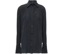Rem Washed-silk Shirt Black