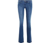 The Straight low-rise slim-leg jeans