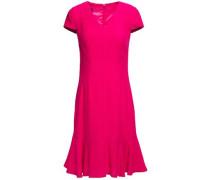 Woman Flared Jacquard Dress Fuchsia