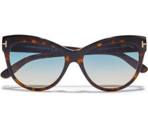 Woman Cat-eye Acetate Sunglasses Blue