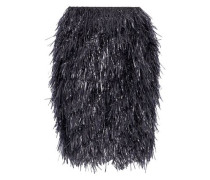 Fringed Wool And Cashmere-blend Mini Skirt Midnight Blue