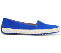 Suede Loafers Bright Blue